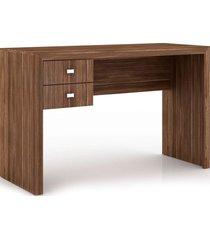 mesa para escritório 2 gavetas me4123 tecno mobili nogal videira - tricae