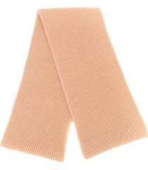 n.peal chunky ribbed knit scarf - neutrals