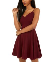 b darlin juniors' scalloped fit & flare dress