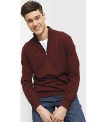 sweater nautica burdeo - calce regular
