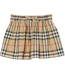 burberry check-print gathered shorts