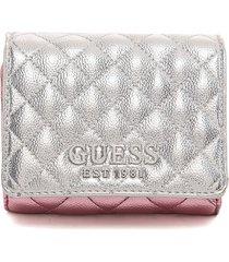 billetera plateado-rosa guess