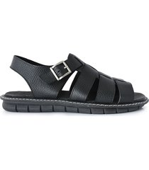 sandalia negra briganti hombre moroke