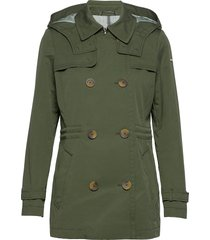 jackets outdoor woven trenchcoat lange jas groen esprit casual