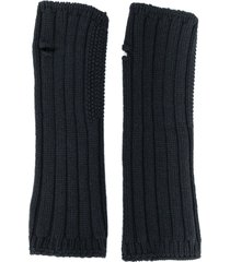 holland & holland knitted mittens - grey