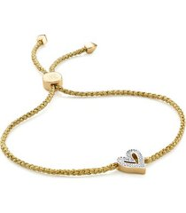 gold alphabet heart diamond friendship bracelet - limited edition diamond
