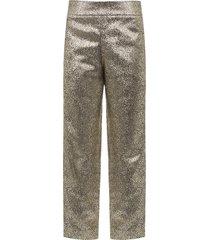 calça feminina metalizada - dourado