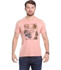 camiseta javali salmão palm