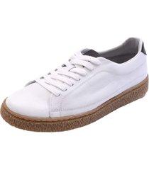sapatenis shoes grand casual couro branco - kanui