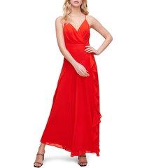 women's astr the label floral ruffle detail maxi dress