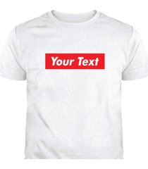 custom red box logo short sleeve t-shirts t-shirt tee c-t12