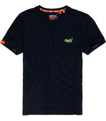superdry t-shirt m1010024a crew neck tee t1z navy fluro space dye - blauw