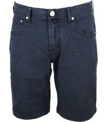 jacob cohen 5-pocket bermuda shorts in stretch cotton with zip closure