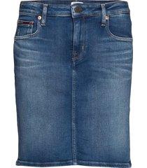 classic denim skirt mnm kort kjol blå tommy jeans