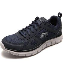 tenis training azul-gris skechers track scloric