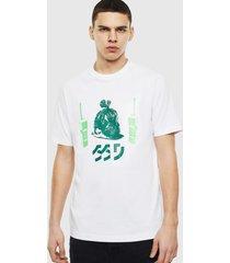 polera t just t30 t shirt 100 blanco diesel