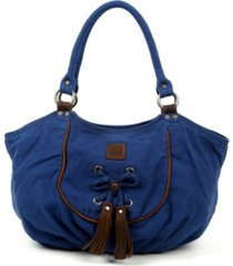 tsd brand bold lotus canvas hobo bag