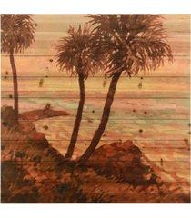 """empire art direct palm breeze i arte de legno digital print on solid wood wall art, 36"""" x 36"""" x 1.5"""""""