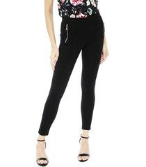jegging vero moda ava nw zip negro - calce ajustado