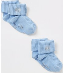 river island blue ri embroidered socks 2 pack