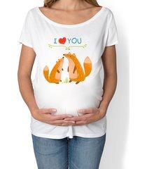 koszulka ciążowa. zwierzęta leśne, liski
