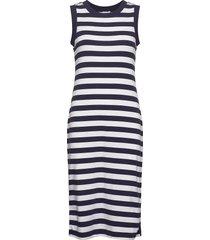 modern sleeveless midi dress knälång klänning blå gap