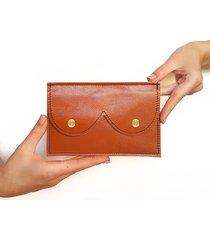 portfel cycki rudy połysk