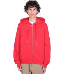 lanvin sweatshirt in red cotton