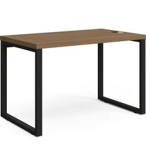 mesa secretaria 1,20mt munique de madeira kappesberg marrom - marrom - dafiti