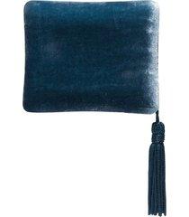 sophie bille brahe tassel-trimmed velvet jewellery case - blue
