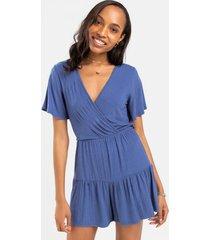 donna knit romper - blue