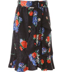 tory burch floral print mini skirt