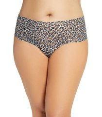 plus size women's hanky panky classic leopard retro thong