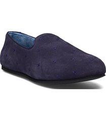 hums suede cross loafer loafers låga skor blå hums