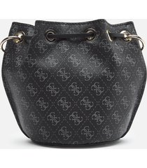guess women's washington mini drawstring bag - black multi