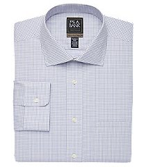 travel tech collection tailored fit spread collar plaid shirt, by jos. a. bank