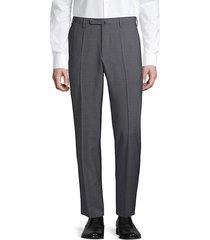 incotex men's matty tech-wool dress pants - bright blue - size 40