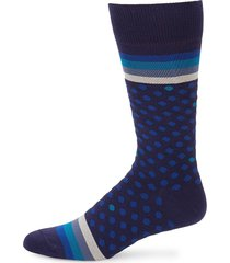 paul smith men's polka stripe socks - blue