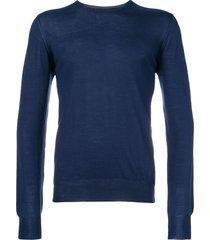dell'oglio crew-neck lightweight sweater - blue