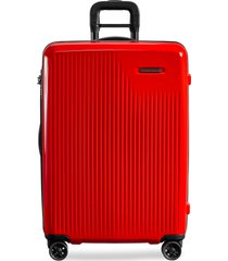 sympatico medium expandable spinner suitcase - fire