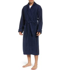 men's big & tall majestic international ultra lux robe, size 4xb - blue