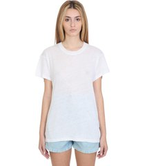 iro t-shirt in white linen