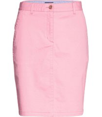 d1. slim classic chino skirt kort kjol rosa gant