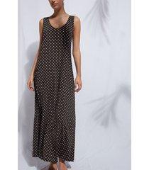 calzedonia maxi dress roberta woman brown size m