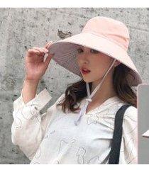 nuevo protector solar para mujer, sombrero para el sol rosa