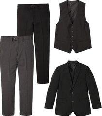completo (4 pezzi) giacca, gilet, 2 pantaloni (nero) - bpc selection
