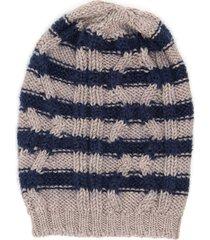 massimo alba striped beanie