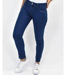jeans  hilos contraste