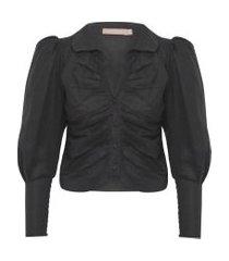 camisa feminina suzanne - preto