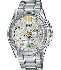 reloj casio mtp-e305d-7a-gris